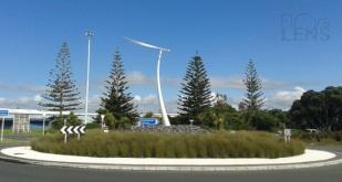 Traffic island at Auckland International Airport